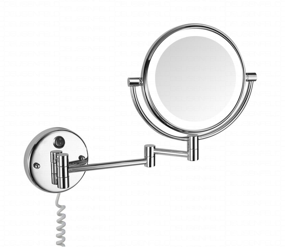 deusenfeld wled52d led doppel wand kosmetikspiegel 5 fach normal 20cm direktanschluss. Black Bedroom Furniture Sets. Home Design Ideas