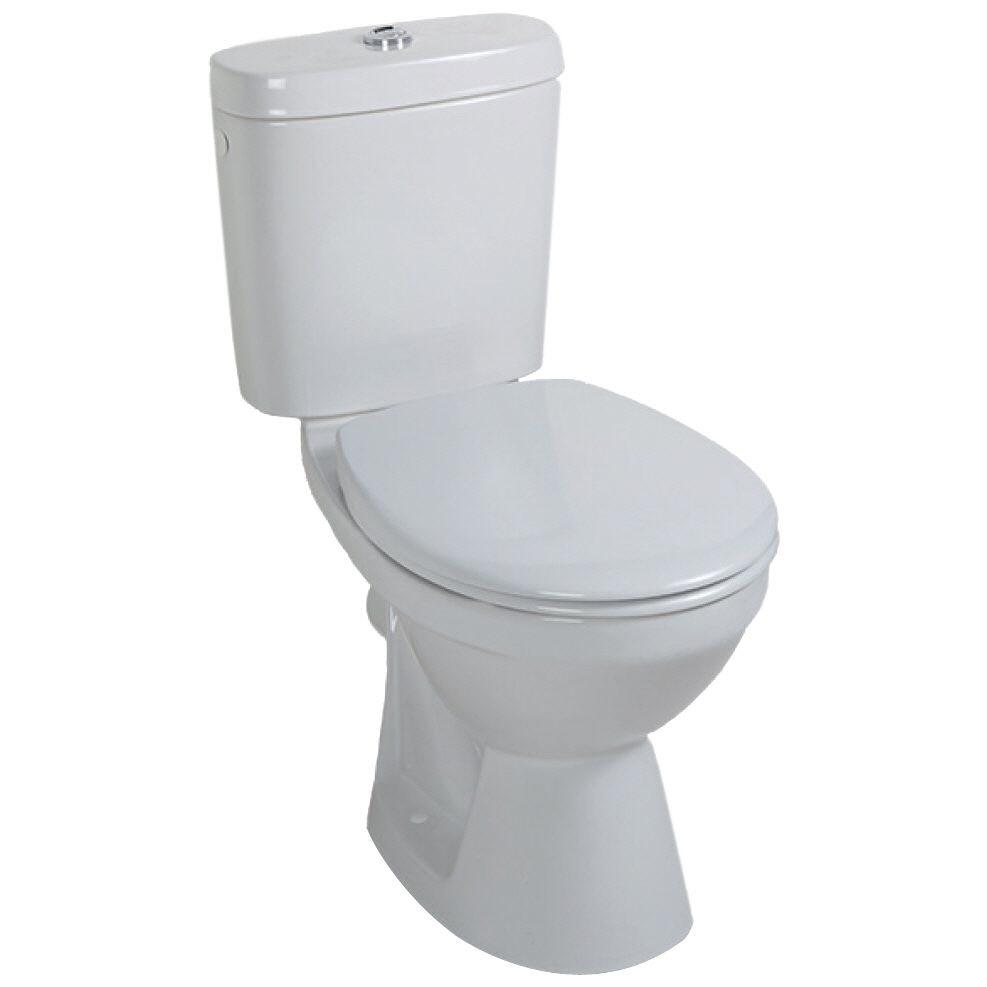 Extrem Saval WC-Kombi, Tiefspüler mit Spülkasten, Keramik weiß, Abgang FI11