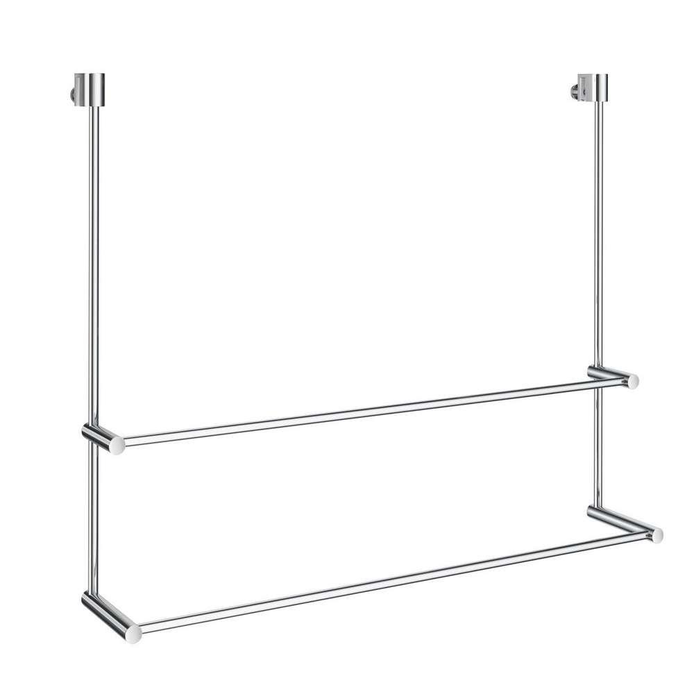 smedbo dk3102 design handtuchhalter doppelt fr dusche glaswand fr 3 10mm glas 600x485x70110mm - Handtuchhalter Dusche Glas