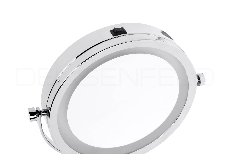 deusenfeld sl5cb batterie led doppel stand kosmetikspiegel 5 fach normalspiegel 17 5cm hell. Black Bedroom Furniture Sets. Home Design Ideas