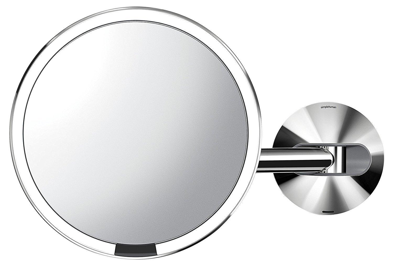 simplehuman st3015 wand edelstahl sensor akku led kosmetikspiegel 5 fach 23cm gl nzend poliert. Black Bedroom Furniture Sets. Home Design Ideas