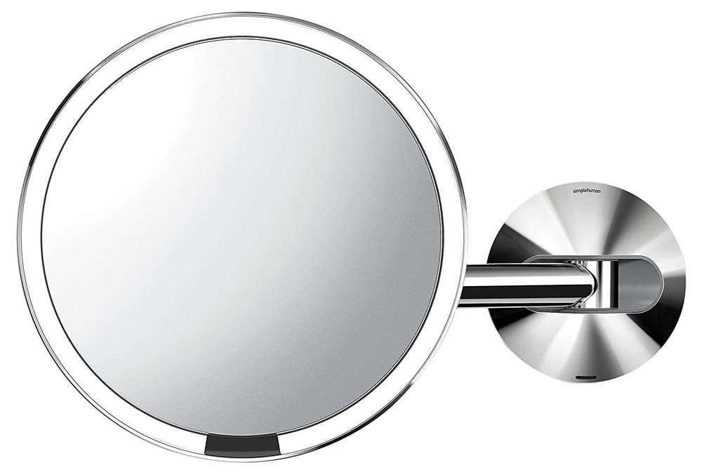 Kosmetik Spiegel mit LED Beleuchtung schwenkbar Bad Wand Leuchte 5x Vergrößerung