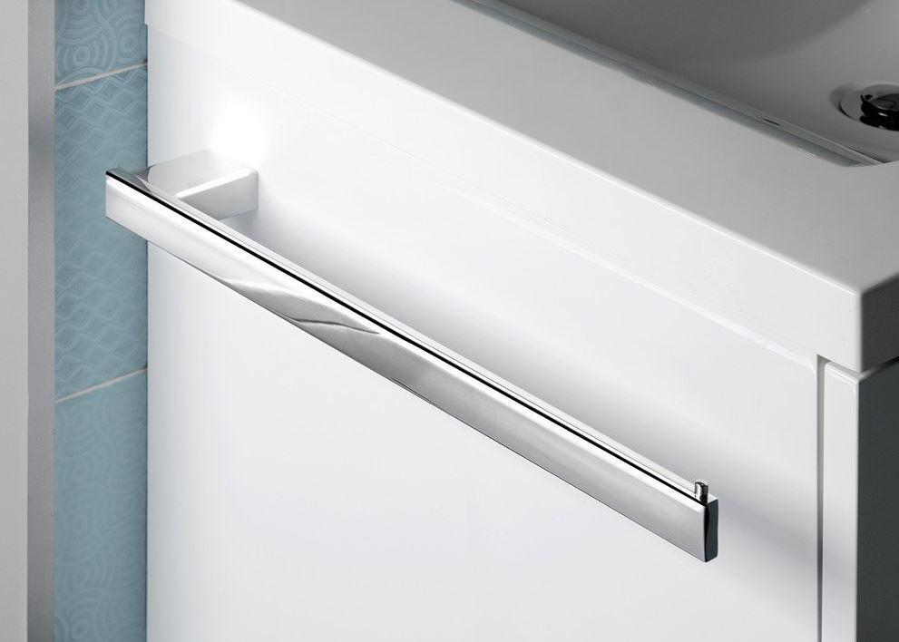 """Design Handtuchhalter """"QUADRO"""" für seitliche Möbelmontage"""