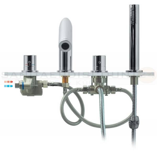 4 Loch Armatur : designer 4 loch wannenrand thermostat armatur zero chrom ~ Frokenaadalensverden.com Haus und Dekorationen